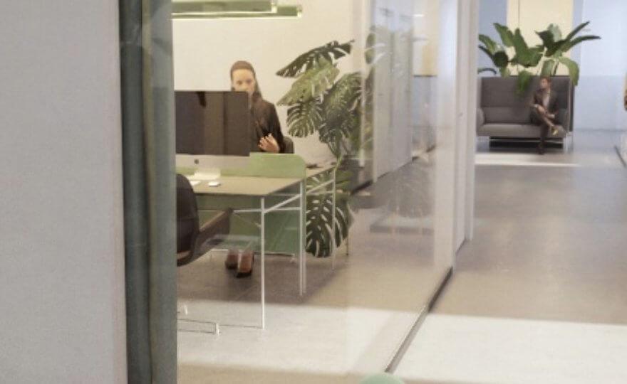 Bild över kontorslandskap.
