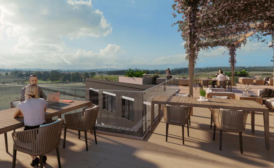 BIlden visar en balkong med härlig utsikt.