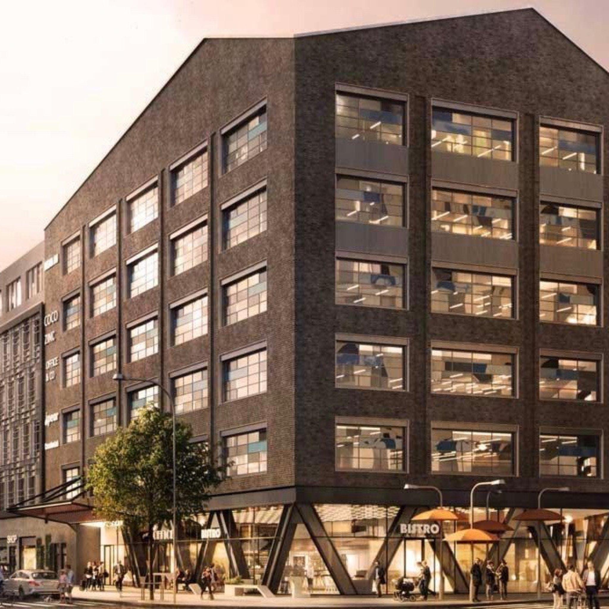 Bilden visar fasaden av Eminent